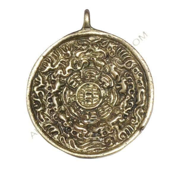 Medallón redondo oro viejo
