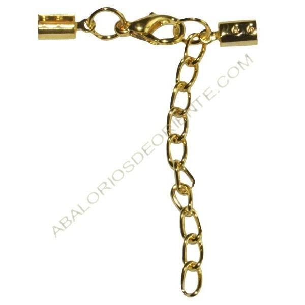 Cierre completo dorado terminales 10 x 5 mm