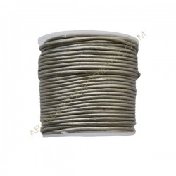 Cuero 1 mm Plata metalizado 223