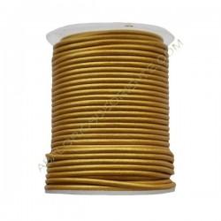Cuero 2 mm Oro amarillo metalizado 229