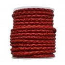 Cuero trenzado 3 mm Rojo159