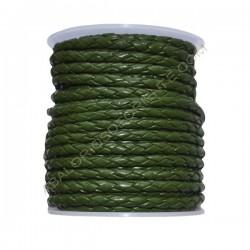 Cuero trenzado 4 mm Verde 145