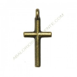 Colgante de Zamak cruz bronce