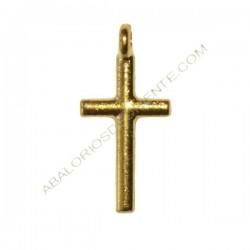 Colgante de Zamak cruz dorada