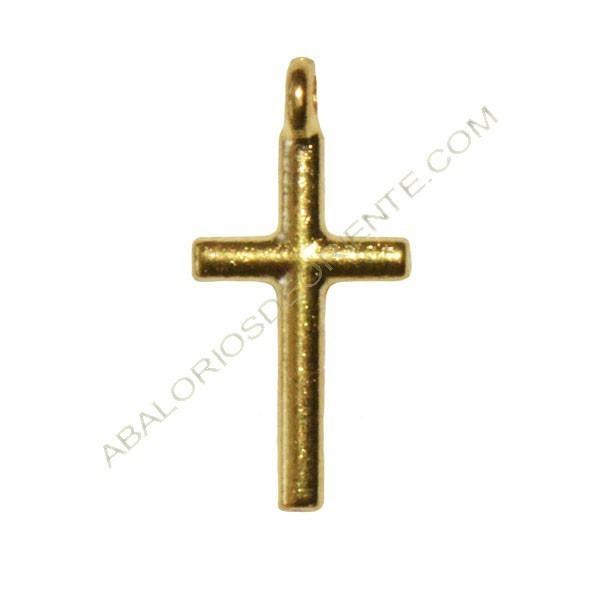 401d295e948a Colgante de Zamak cruz dorada - Calaveras y cruces