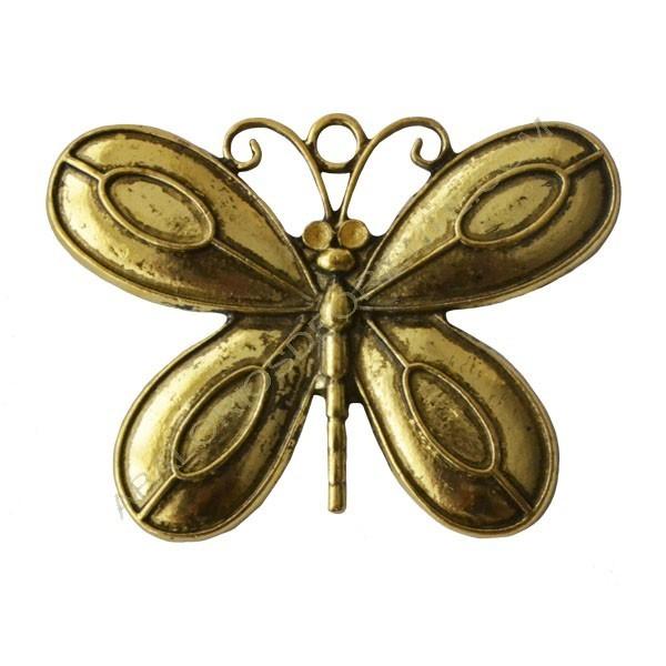 Colgante de Zamak mariposa dorada