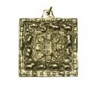 Colgante tibetano calendario cuadrado dorado