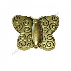 Cierre magnético mariposa dorado