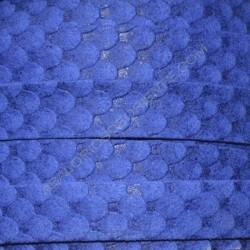 Cordón antelina serpiente azul eléctrico