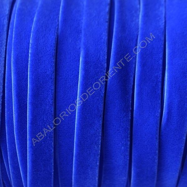 Cinta de terciopelo elástico azul eléctrico