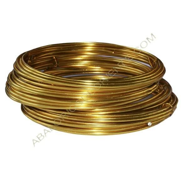 Hilo de aluminio de color dorado 2 mm