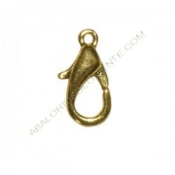 Mosquetón de aleación de Zinc dorado 14 mm