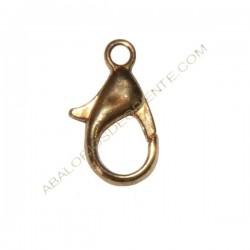 Mosquetón de aleación de Zinc dorado cobrizo 14 mm