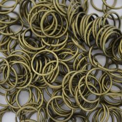 Argolla abierta simple de 10 mm bronce