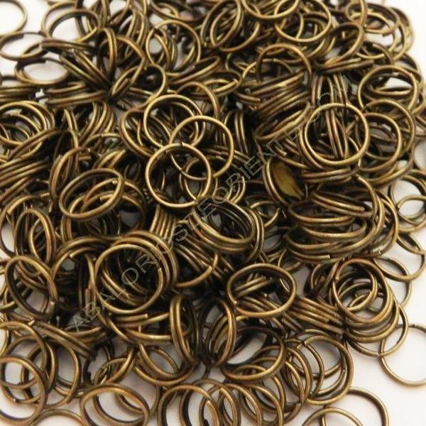 Bolsa de argollas abiertas dobles de 12 mm bronce