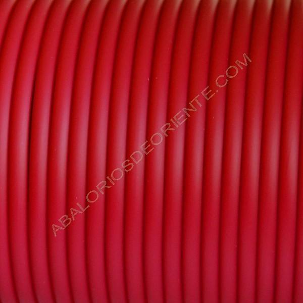 Cordón de caucho hueco rojo en carretes