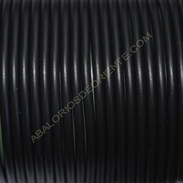 Cordón de caucho hueco negro