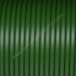 Cordón de caucho hueco verde botella en carretes