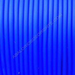 Cordón de caucho hueco azul eléctrico en carretes