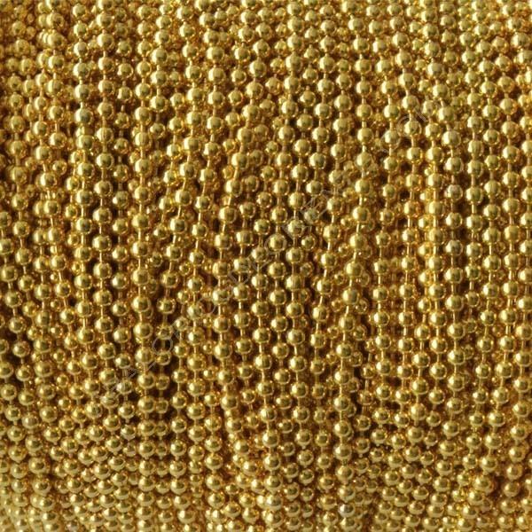 Cadena de bolas de 2 mm dorada