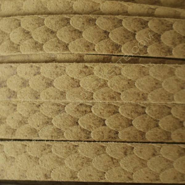 Cordón antelina serpiente beige