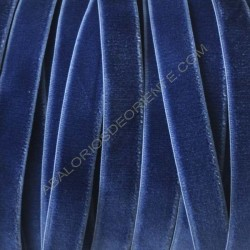 Cinta de terciopelo elástico azul mar