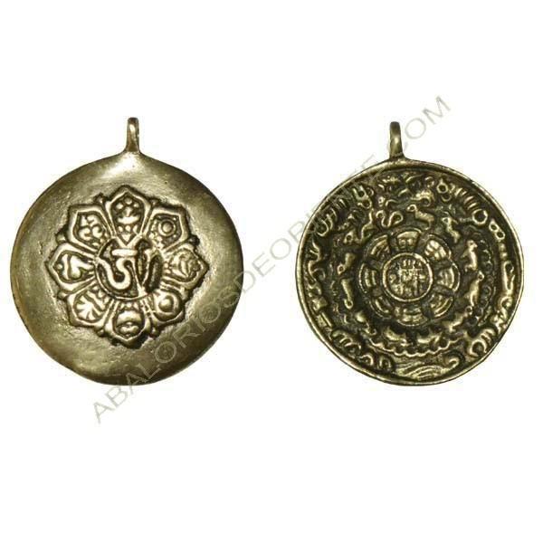 Calendario tibetano doble cara 46 x 40 x 2,5 mm