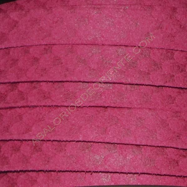 Cordón antelina serpiente frambuesa