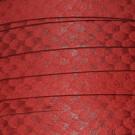 Cordón antelina serpiente rojo