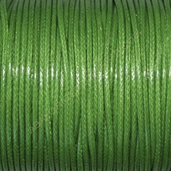 Algodón encerado brillante 2 mm verde loro