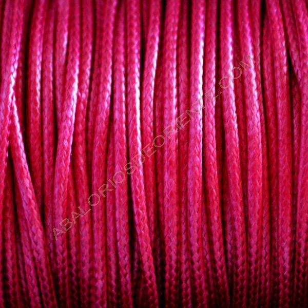 Algodón encerado brillante 2 mm rosa fucsia