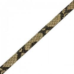 Cuero plano imitación serpiente beige