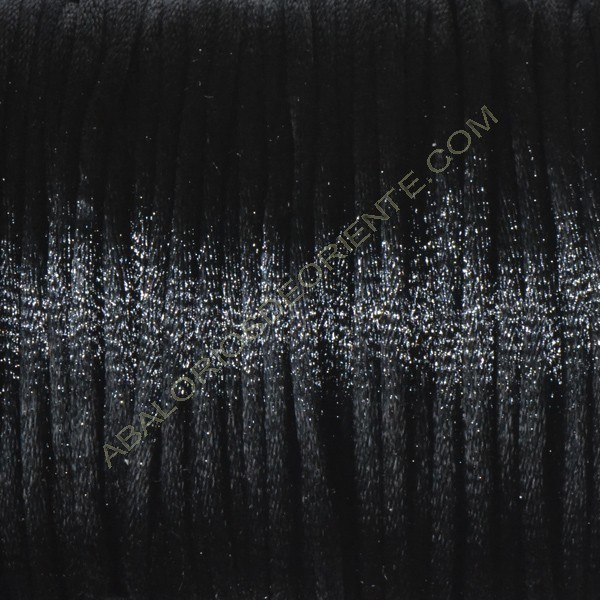 Cola de ratón color negro 2 mm