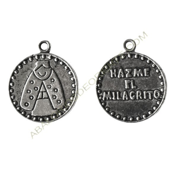 Medallas virgencita 15 mm