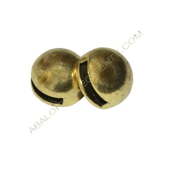 Pasador botón 10 mm dorado