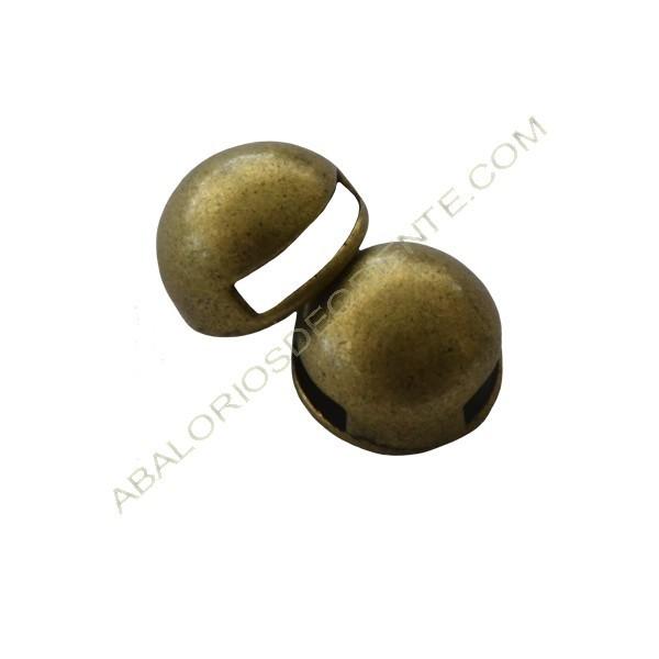 Pasador botón 10 mm bronce