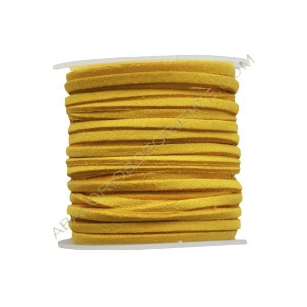 Cordón de ante mostaza 3 x 1 mm