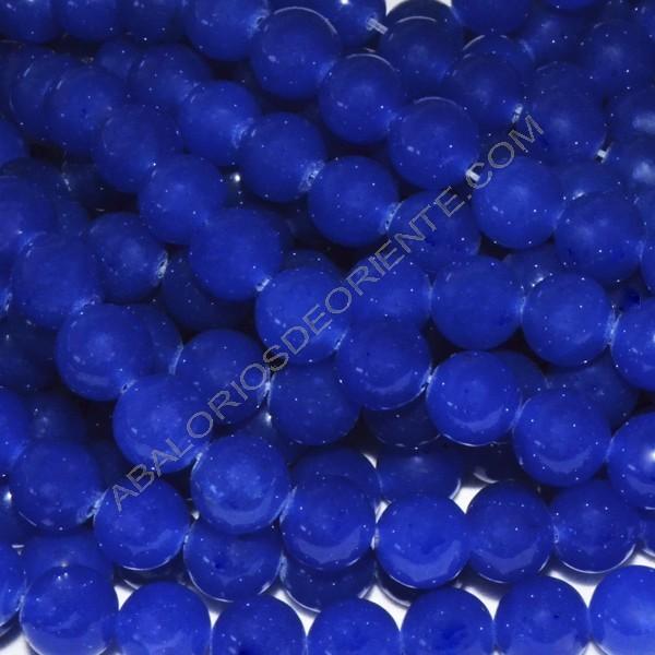 Ágata azul redonda de 8 mm