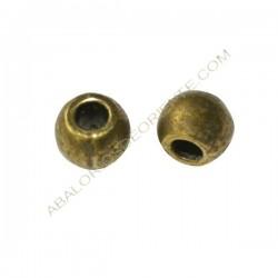 Entrepieza de Zamak bola lisa 8 mm bronce