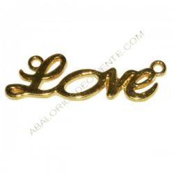 Conector de aleación de Zinc Love dorado