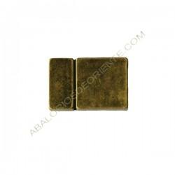 Cierre magnético Zamak rectangular bronce antiguo