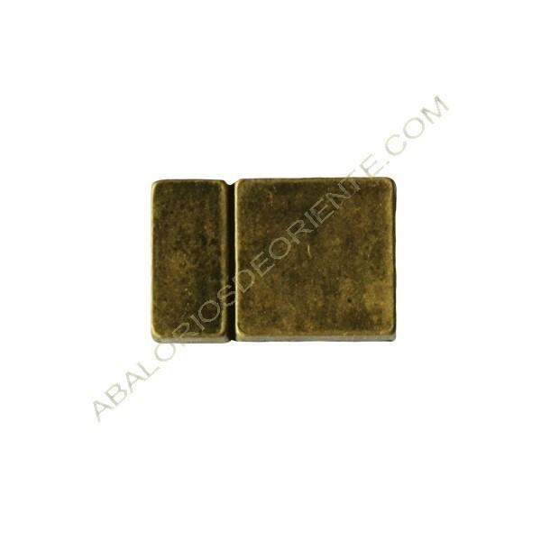 Cierre magnético de aleación de Zinc rectangular bronce antiguo