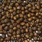 Cuenta de madera redonda marrón de 7 mm