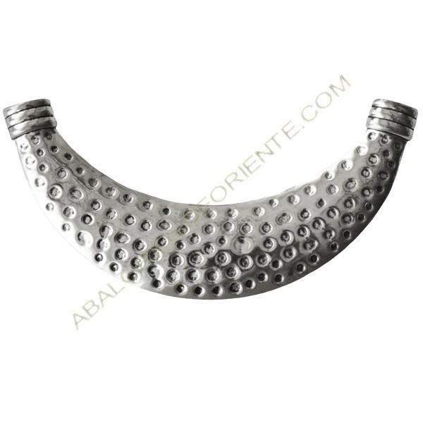 Base para collar de aleación de Zinc 125 x 29 x 3.5 mm plateada
