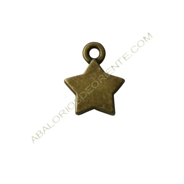 Colgante estrella bronce