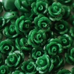 Flor resina verde 8 x 8 mm