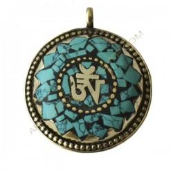Colgante amuleto tibetano om