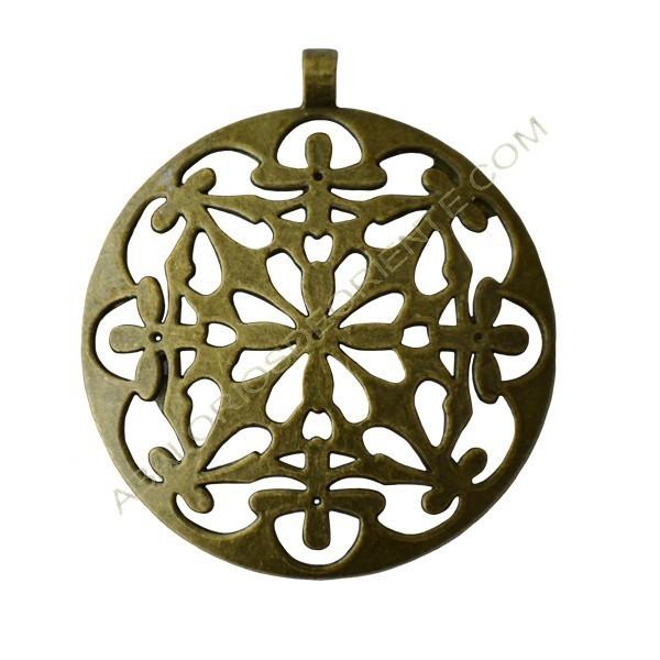 Colgante de aleación de Zinc filigranas bronce