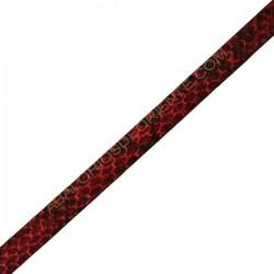 Cuero plano imitación serpiente rojo