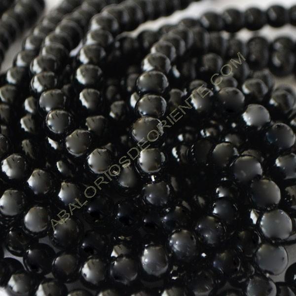 Ónix negro bola de 4 mm